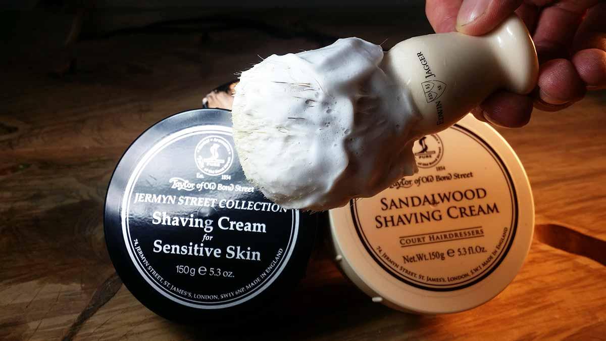 Taylor of Old Bond Street Shaving Cream on brush