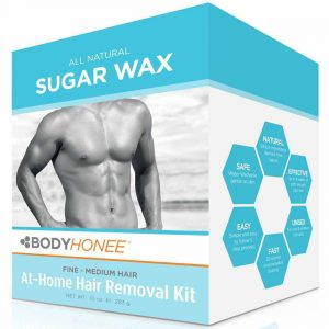 BodyHonee All Natural Spa Wax: Extra Strength Hair Removal Waxing Kit Men