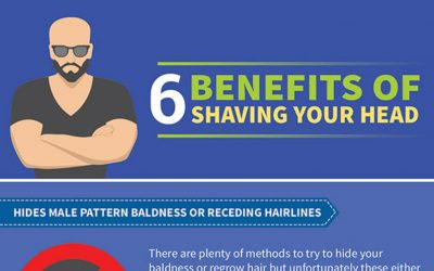 6 Benefits of Shaving Your Head (Infographic)
