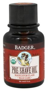 Badger Navigator Class Pre-Shave Oil (Best All-Natural Pre Shave Oil)