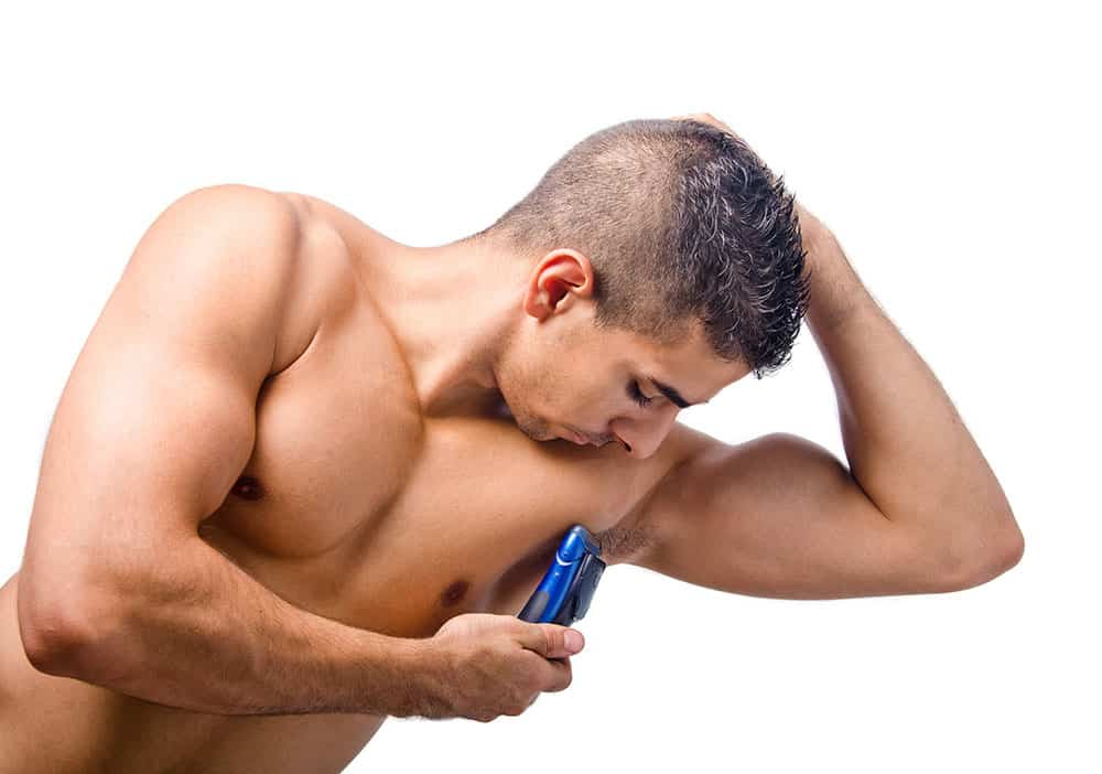 shaved mens underarms