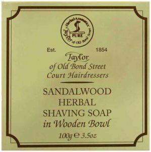 Taylor of Old Bond Street Sandalwood Shaving Soap with Bowl