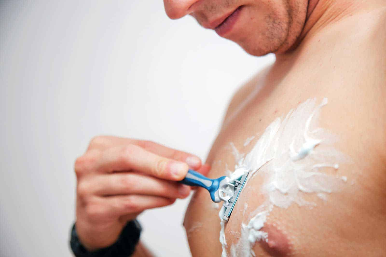 Pics men shaving body hair dakota