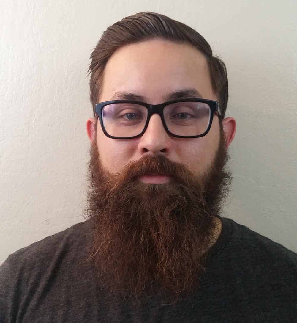 what kind of haircut goes good with a beard?