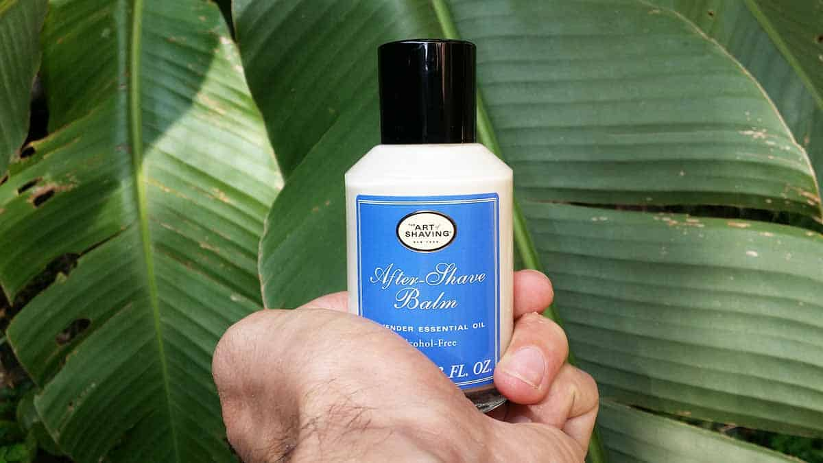 Art of shaving aftershave balm in hand