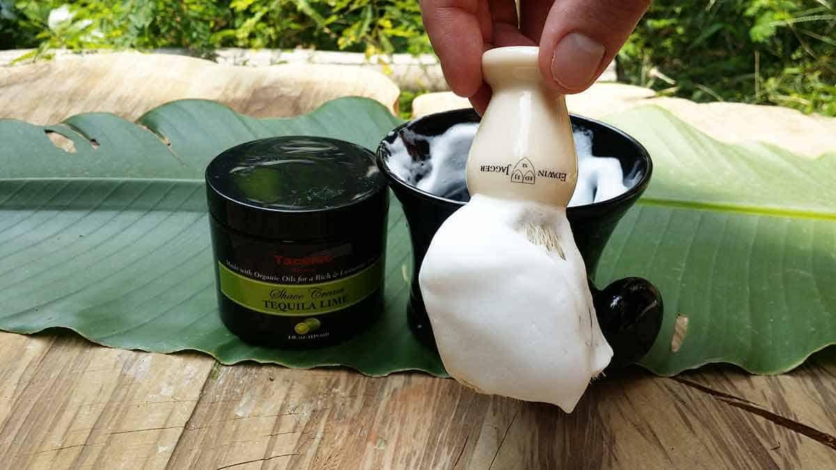 Taconic Shaving Cream on brush