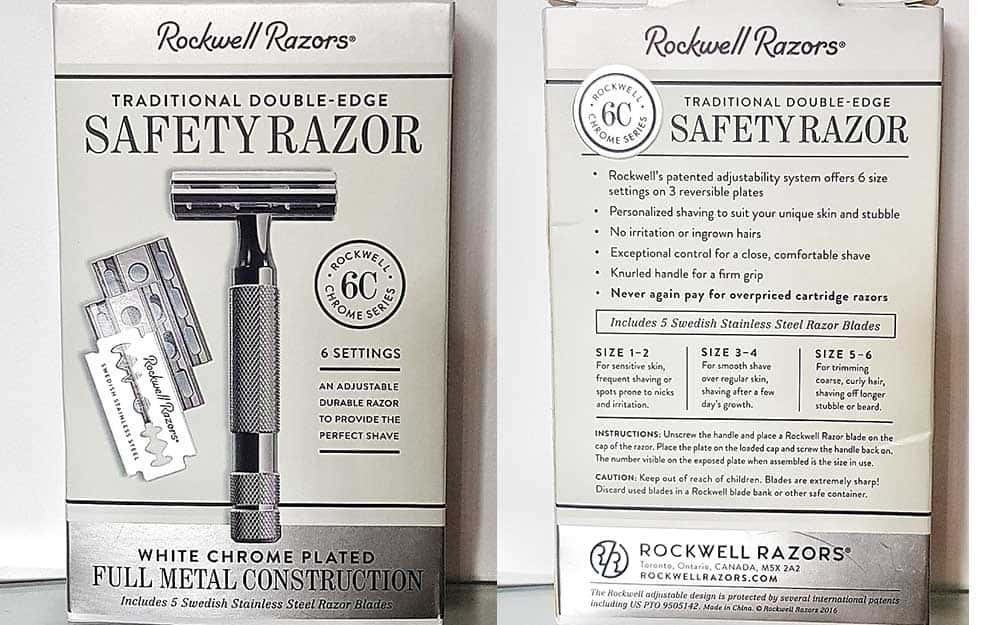 Rockwell 6C Safety Razor packaging