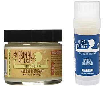 Primal Pit Paste and Stick Natural Deodorant