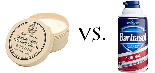 Traditional vs Canned Shaving Cream