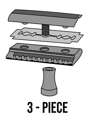 3-Piece Safety Razor