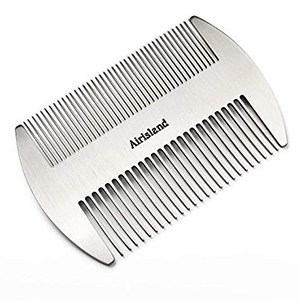 Airisland Dual Action Stainless Steel Beard Comb