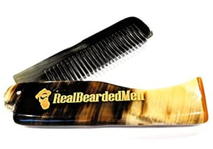 Real Bearded Men Ox Horn Beard Comb