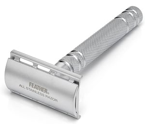 Feather All Stainless Steel Safety Razor