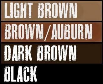 Black Beards dye color options