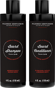 Polished Gentlemen Beard Growth & Thickening Shampoo and Conditioner Set