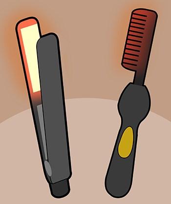 Use Heat to straighten beard