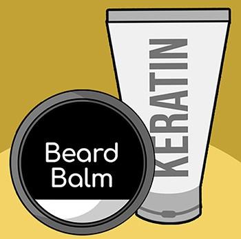 Use product to straighten beard