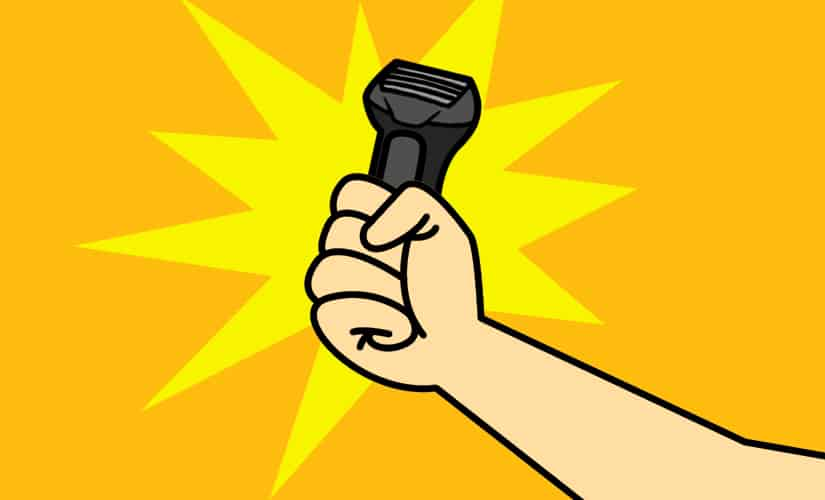 Ergonomic Hand Feel of electric shaver