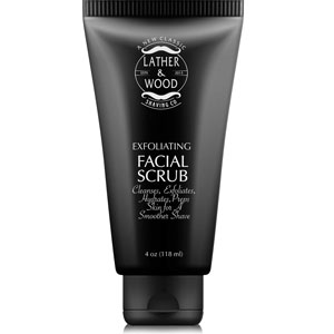 Lather and Wood Exfoliating Facial Scrub