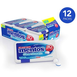 Mentos Clean Breath Hard Mints Sugar Free Candy