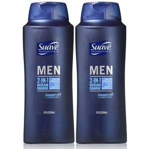 Suave Professionals Men 2-in-1 Shampoo and Conditioner Pack of 2