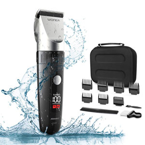WONER Waterproof Cordless Hair Clippers for Men