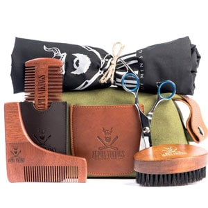 Alpha Vikings Beard Care Grooming Kit for Men