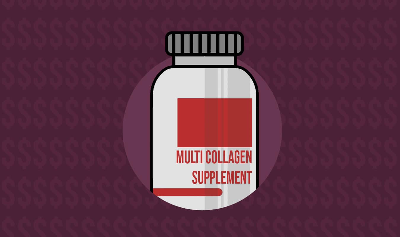 Amount of supplements for hair, skin, and nails