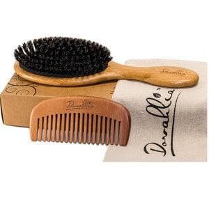 Dovahlia Boar Bristle Hair Brush and Comb Set
