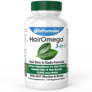 DrFormulas HairOmega 3-in-1 Hair Growth Vitamins