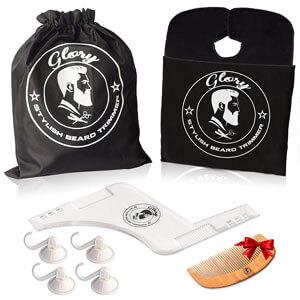 Gloryline Beard Shaping Tool Premium Kit for Men
